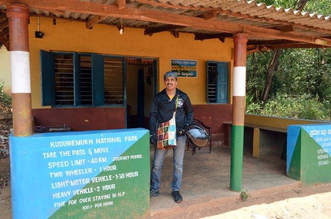 Kudremukha National Park check post